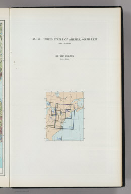 (Map Title Page) 197-198. United States of America, North East. 199. New England.