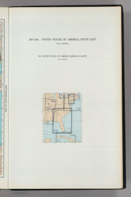 (Map Title Page) 203-204. United States of America, South East. 205. United States of America, Middle Atlantic.