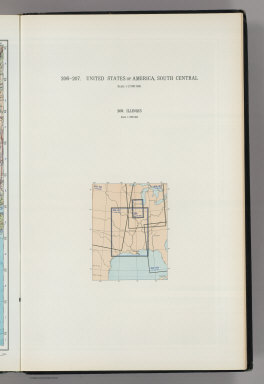 (Map Title Page) 206-207. United States of America, South Central. 208. Illinois.