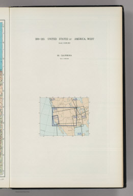 (Map Title Page) 209-210. United States of America, West. 211. California.