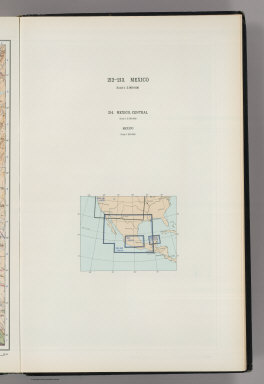 (Map Title Page) 212-213. Mexico. 214. Mexico, Central.