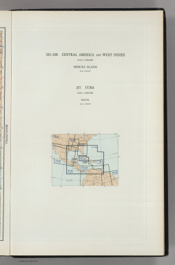 (Map Title Page) 215-216. Central America and West Indies. 217. Cuba.
