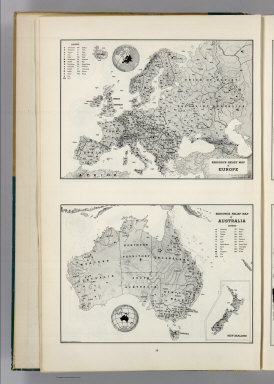 Resource-Relief Map of Europe. 6415. Resource-Relief Map of Australia. 8415