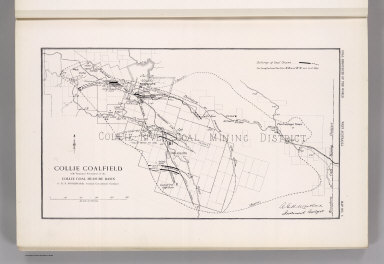 Coal Resources of the World. West Australia. Map No. 5. Collie Coalfield with Amended Boundaries of the Collie Coal Measure Basin by H.P. Woodward. Assistant Government Geologist.