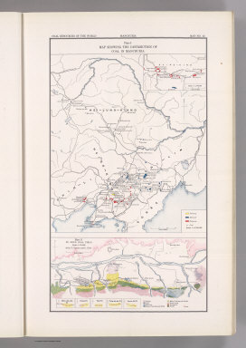 Coal Resources of the World. Manchuria. Map No. 12. Plate I. Map Showing Showing the Distribution of Coal in Manchuria. (inset) Hsing-King. Plate II. Fu-Shun Coal Field. After T. Ogawa and C. Kido.