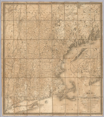 A Map of the New England States, Maine, New Hampshire, Vermont, Massachusetts, Rhode Island & Connecticut, With the adjacent parts of New York & Lower Canada. Compiled and Published By Nathan Hale, Boston 1826. Engraved by J.V.N. Throop. Entered ... the 14th day of August 1826 by Nathan Hale of Massachusetts. (inset) Northern & Eastern Part Of Maine And Part Of Lower Canada And New Brunswick.
