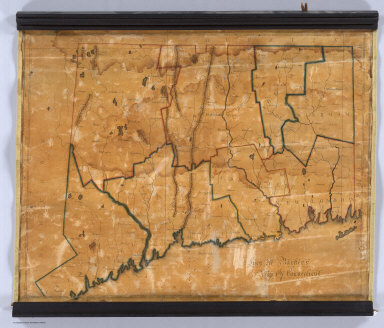 Lucy M. Barker's Map Of Connecticut.