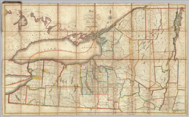 Map Of The Northern Part of the State Of New York. Compiled from actual Survey By Amos Lay 1812. Entered ... 16th day of July 1812 by Amos Lay ... New-York.