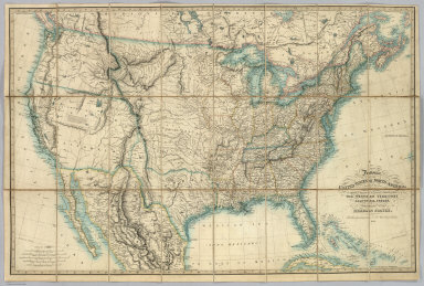 Fredonia Or The United States of North America, Including Also Cabotia, Or The Canadian Provinces, The Western Territory California, Oregon and the Northern Part of the Mexican States. 1849.