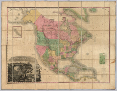 A Map of North America, Constructed According To The Latest Information ... Improved to 1828.