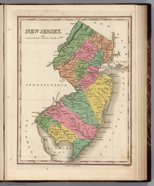 New Jersey. Young & Delleker Sc. Published by A. Finley Philada.