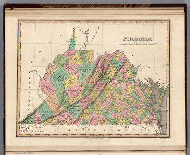 Virginia. Young & Delleker Sc. Published by A. Finley Philada.