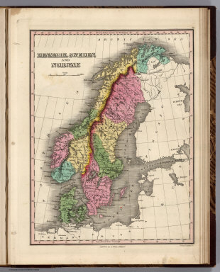 Denmark, Sweden, and Norway. Young & Delleker Sc. Published by A. Finley Philada.
