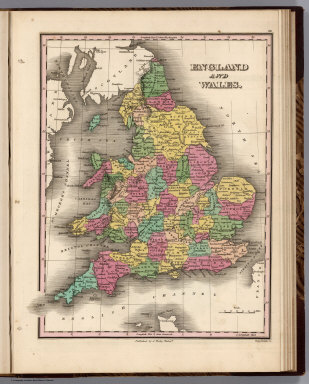 England and Wales. Young & Delleker Sc. Published by A. Finley Philada.