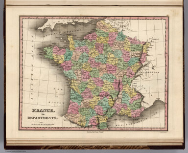 France, in Departments. Young & Delleker Sc. Published by A. Finley Philada.