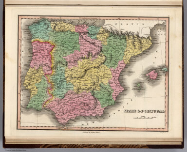 Spain & Portugal. Young & Delleker Sc. Published by A. Finley Philada.
