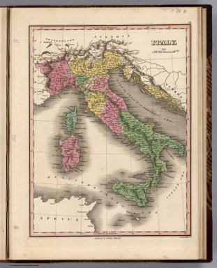 Italy. Young & Delleker Sc. Published by A. Finley Philada.