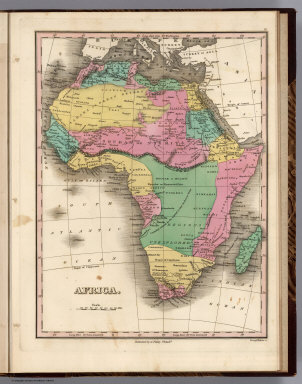 Africa. Young & Delleker Sc. Published by A. Finley Philada.