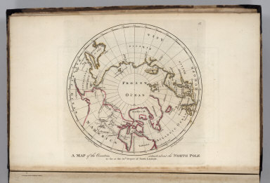 A map of the countries situate about the North Pole as far as the 50th degree of north latitude.