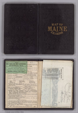 (Covers to) Maine. 1853. Published By J.H. Colton. No. 86 Cedar St. New York. Entered ... 1853, by J.H. Colton ... New York.