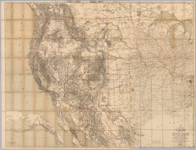 (Composite of) Map of the Territory of the United States, west of the Mississippi River. (Prepared by authority of the Hon. the Secretary of War in the Office of the Chief of Engineers under the direction of Brig. General A.A. Humphreys Chief of Engineers and Brevet Maj. Gen. U.S. Army. By Edward Freyhold 1879. (inset) Territory of Alaska.