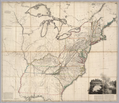 A Map Of The United States of North America Drawn from a number of Critical Researches By A. Arrowsmith, Geographer, Charles Street, Soho Square. London. Published as the Act Directs by A. Arrowsmith, Charles Street, Soho Square. Jany. 1st, 1796. Boundaries Communicated by Geo. Chalmers Esqr. ...