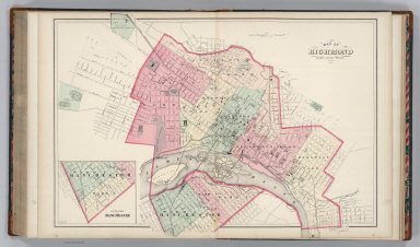 Map of Richmond, Henrico County, Virginia. (inset continuation of main map).