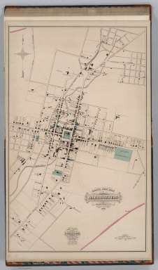 Gray's New Map of Harrisonburg, Rockingham Co., Virginia. Drawn from Special Surveys, 1877. Drawn, Engraved, and Published by O.W. Gray & Son, Geographers, Manufacturers of Maps and Atlases, 10 North Fifth Street, Philadelphia. Jacob Chace, Topographical Engineer, Manager of Local Surveys.