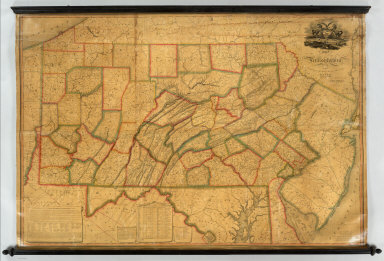 Map of Pennsylvania. Constructed from the County Surveys authorized by the State and other original Documents by John Melish. Engraved by B. Tanner. Entered ... 7th day of June 1822, by John Melish ... Pennsylvania. (title engravng) Drawn by F. Kearny. Engraved by B. Tanner.