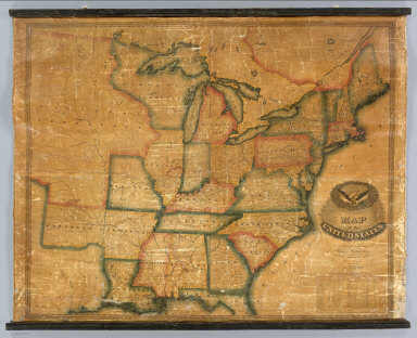 Map of the United States. Compiled From The Latest Authorities. Published By Lewis Robinson. Reading Vt. 1833. Engraved by J.G. Darby.