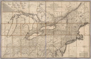 New Travelling and Commercial Map of the Canadas, From the Sault of St. Marie to the River Saguenay, And A Large Section Of The United States Of America, Compiled from the latest Surveys & most approved Authorities. Dedicated By Permission To Commodore Robert Barrie, C.B. &c. &c. &c. By his Obliged Obedient Humble Servant, David Taylor, R.N. March 1834. Engraved By S. Stiles & Co. New York.