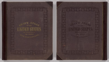(Covers to) Gray's Atlas Of The United States, With General Maps Of The World. Accompanied By Descriptions Geographical, Historical, Scientific and Statistical. By O.W. Gray, Civil And Topographical Engineer, No. 10 North Fifth Street, Philadelphia. Published By Stedman, Brown & Lyon, No. 10 North Fifth Street, Philadelphia. 1874. (on verso) Entered ... 1873, by O.W. Gray ... Washington.
