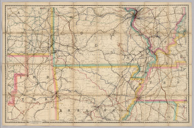 The Rand McNally Shippers' Railroad Map Scale: 8 Miles To One Inch. Railroads Corrected to Sept. 1909. Copyright, 1888 ... 1891 ... 1895, by Rand, McNally & Co.