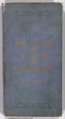 (Covers to) Railroad and County Map Of Texas 1906. Issued By The Railroad Commission of Texas. Commissioners: L.J. Storey, Chairman. Allison Mayfield. O.B. Colquitt. E.R. McLean, Secretary. Compiled And Drawn By R.A. Thompson, C.E. Woodward & Tiernan Ptg Co. Map Engravers St. Louis, Mo.
