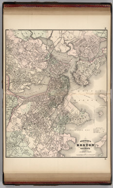 Johnson's Boston and Vicinity. Published by Alvin J. Johnson & Co., New York. 36. 37. Entered according to the Act of Congress, in the year 1870, by A.J. Johnson in the Clerk's Office of the District Court of the United States for the Southern District of New York.