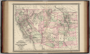 Johnson's California, Utah, Nevada, Colorado, New Mexico, and Arizona. Published by Alvin J. Johnson & Co., New York. 79. 80. Entered according to the Act of Congress, in the year 1864, by A.J. Johnson in the Clerk's Office of the District Court of the United States for the Southern District of New York.
