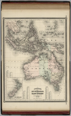 Johnson's Australia and East Indies. Published by Alvin J. Johnson & Co., New York. 118. 119. Entered according to the Act of Congress, in the year 1867, by A.J. Johnson in the Clerk's Office of the District Court of the United States for the Southern District of New York.
