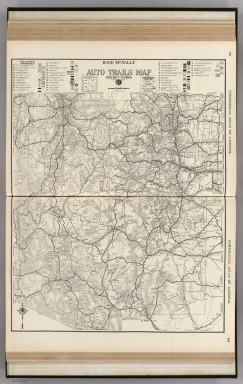 Commercial Atlas of America. Rand McNally AutoTrails Map, District Number 17, (Utah, Colorado, New Mexico, Arizona)