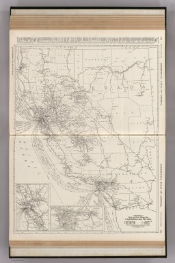 Commercial Atlas of America. Rand McNally Black and White Mileage Map, California and Nevada.