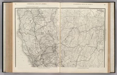 Commercial Atlas of America. (Rand McNally Auto Trails Map, District No. 15-16. California, Nevada. Northern Section).