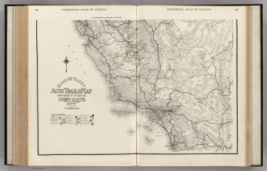 Commercial Atlas of America. Rand McNally Auto Trails Map, District No. 15-16. (California, Nevada. Southern Section).