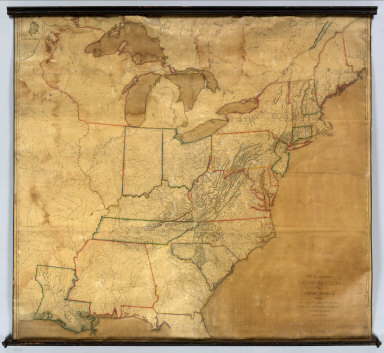 A New and correct Map of The United States Of North America, Exhibiting The Counties, Towns, Roads &c. in each State. Carefully compiled from Surveys and the most Authentic Documents, By Samuel Lewis. W. & S. Harrison sculpt. Philadelphia, Published by Emmor Kimber 1816. Copy Right secured according to Law.