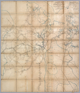 Military Map of a part of Eastn. Virginia Department of Maj: Genl: J.A. Dix Comdg 7th Army Corps completed from several Military Reconnaissances & Surveys under the Direction of Capt: Wm. Heine Topt. Engr. U.S. drawn & compiled by Lieut. Ch. Worret & G. Kayser Traced by Lieut. Ch. Worret.