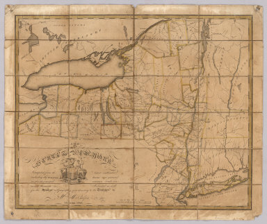A Map of the State Of New York. Compiled from the latest authorities, including the Turnpike Roads now granted as also the principal common roads connected therewith. Intended as well for the Student in Geography as a directory to the Traveller. By Wm. McCalpin. Oxford, 1808.
