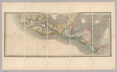 Mexico and Guatemala, Shewing the position of the Mines.