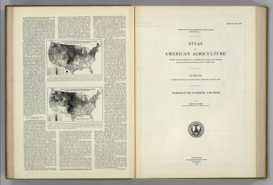 (Section Title Page) Atlas of American Agriculture. Climate ... Temperature, Sunshine, and Wind. United States Department of Agriculture, Washington, D.C., United States Government Printing Office, Washington: 1928.