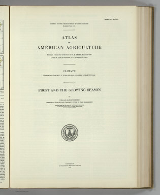 (Section Title Page) Atlas of American Agriculture. Climate ... Frost and the Growing Season. United States Government Printing Office, Washington: 1918.