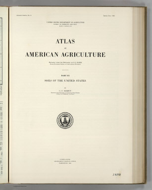 (Section Title Page) Atlas of American Agriculture. Part III. Soils of the United States by C.F. Marbut. United States Government Printing Office, Washington: 1935.