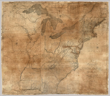 A New Map of the United States, of America Including part of Louisiana. Drawn from the latest Authorities. Revised and corrected by Osgood Carleton Esq. Teacher of Mathematics, Boston. Boston, Published and Sold by John Sullivan, Junr. 1806.