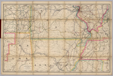 Rand, McNally & Co.'s New Shippers' Railroad Map of the United States. Scale: 8 miles to one inch. Showing all railroads, each in a separate color, and all railroad stations in large, plain type. This is the St. Louis section only, of the above named map. (Below the neatline) Rand, McNally & Co.'s New Shippers' Railroad Map of the United States, Copyright, 1888 by Rand, McNally & Co. Copyright, 1891 by Rand, McNally & Co.